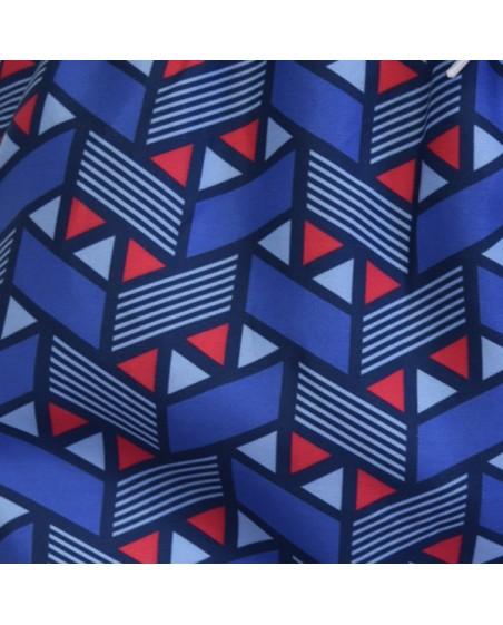 zoom tela bañador para hombre estampado geométrico azul