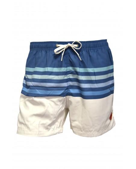 vista frontal bañador para niño diseño marinero